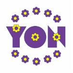 Yon in Flores Purple Photo Cutout