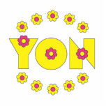 Yon in Flores Yellow Cut Out