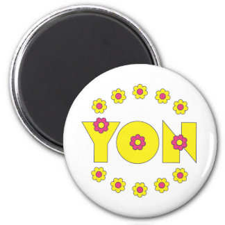 Yon in Flores Yellow Magnets
