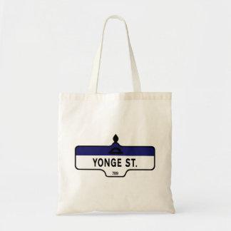 Yonge Street, Toronto Street Sign Canvas Bags