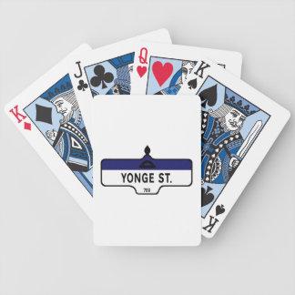 Yonge Street, Toronto Street Sign Poker Deck