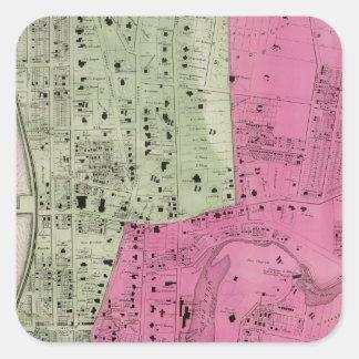 Yonkers, atlas de NY Colcomanias Cuadradass
