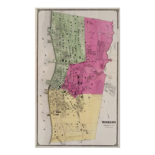 Yonkers, atlas de NY Impresiones