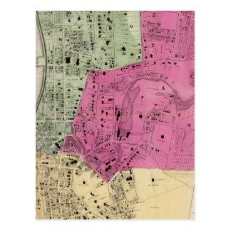 Yonkers, atlas de NY Tarjeta Postal