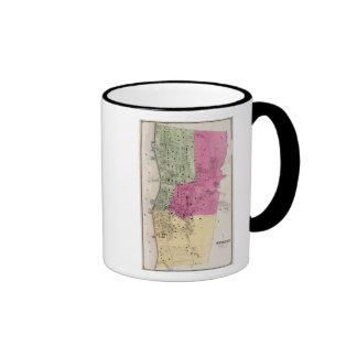 Yonkers, atlas de NY Taza De Dos Colores