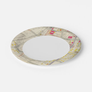 Yonkers Map Atlas Paper Plate