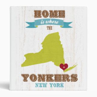 Yonkers mapa de Nueva York - casero es donde está