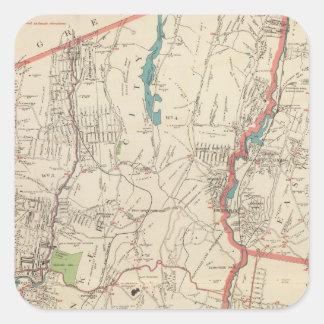 Yonkers, Mt Vernon, ciudades de Eastchester Calcomanías Cuadradases