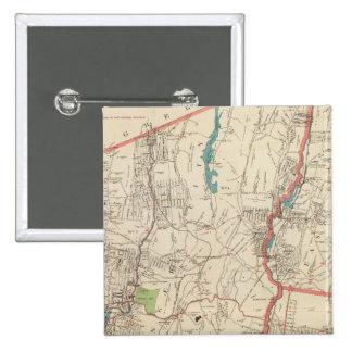 Yonkers, Mt Vernon, ciudades de Eastchester Pin Cuadrada 5 Cm