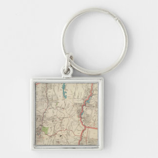 Yonkers, Mt Vernon, Eastchester towns Silver-Colored Square Keychain
