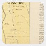 Yonkers N pinta Calcomanias Cuadradas