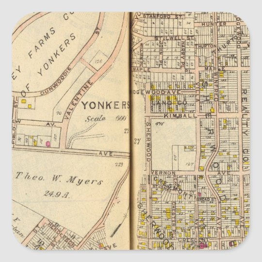 Yonkers, New York 17 Square Sticker