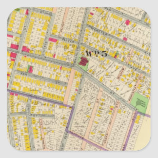 Yonkers New York Map Square Sticker