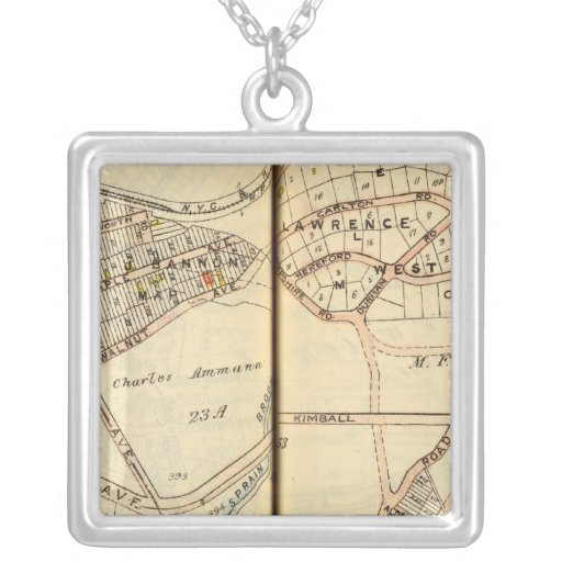 Yonkers, New York Square Pendant Necklace