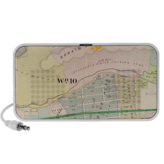 Yonkers NY Atlas Map Portable Speaker