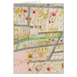 Yonkers NY Map Greeting Card