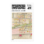 Yonkers NY Map Postage Stamp
