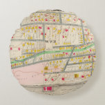 Yonkers NY Map Round Pillow