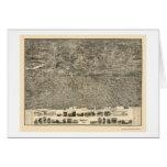 Yonkers, NY Panoramic Map - 1899 Greeting Card