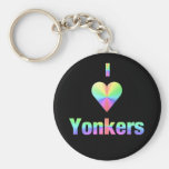 Yonkers -- Pastels Basic Round Button Keychain