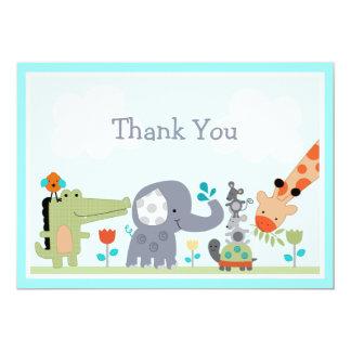 Yoo Hoo Jungle Animals Baby Shower Thank you card