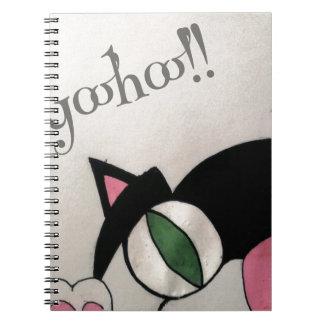 Yoohoo. Cute cat design. Note Books