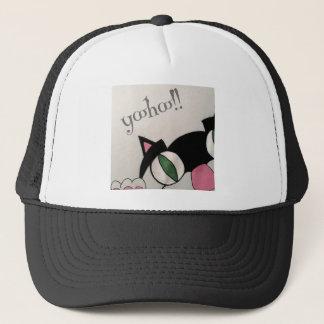 Yoohoo. Cute cat design. Trucker Hat