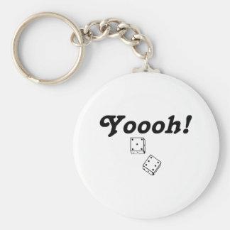 Yoooh Basic Round Button Keychain