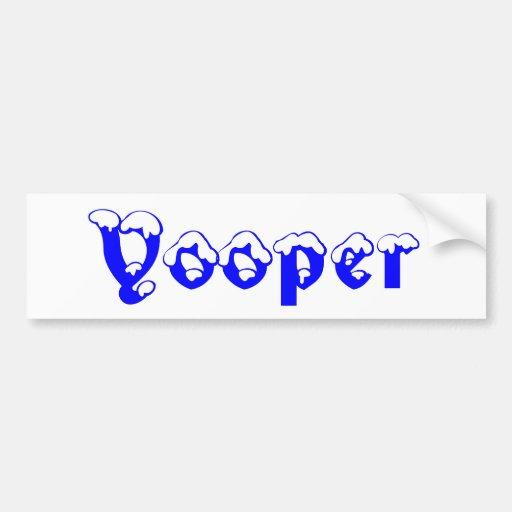 Yooper Bumper Sticker Upper Peninsula Michigan Car Bumper Sticker
