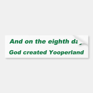 YOOPER BUMPER STICKERS