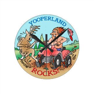 Yooper Cartoon Clock