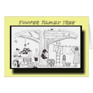 Yooper Family Tree Greeting Card