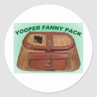 YOOPER GIFT ITEMS CLASSIC ROUND STICKER