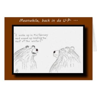 Yooper Insomniac Bear Greeting Card
