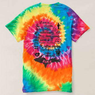 Yooper Nurse, I <3 Michigan, Dark Tye Dye T-shirt
