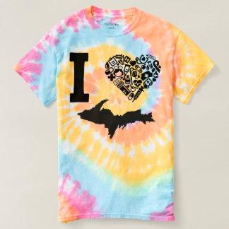Yooper Nurse, I <3 Michigan, Tye Dye T-shirt