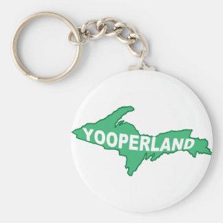 Yooperland Basic Round Button Keychain