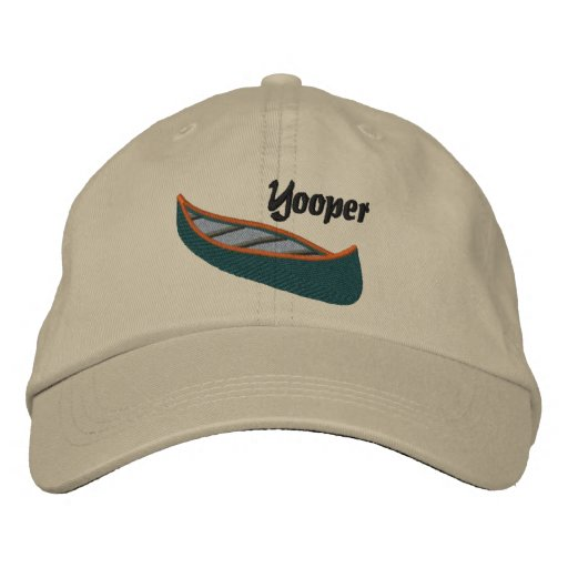 Yoopers Love Canoes Embroidered Baseball Hat