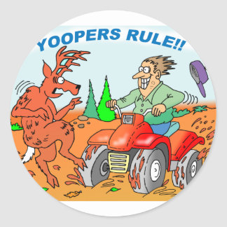 Yoopers Rule Classic Round Sticker