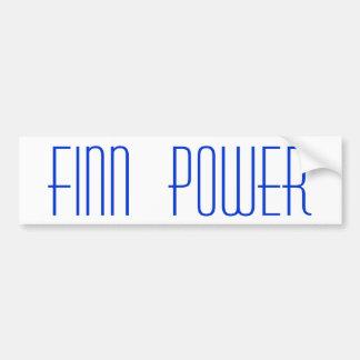 Yoopers w/ FINN POWER Blue on White Bumper Sticker