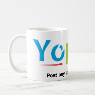 yopost_new, Post any thing and every thing Classic White Coffee Mug