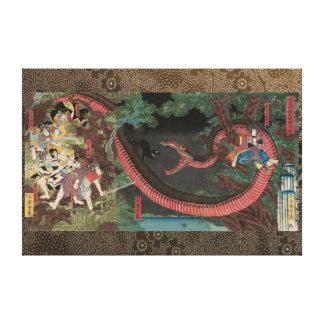 Yorimitsu Tries to Capture Hakamadare Canvas Print