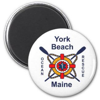 York Beach Ocean Rescue 2 Inch Round Magnet