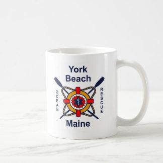 York Beach Ocean Rescue Classic White Coffee Mug