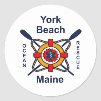 York Beach Ocean Rescue Classic Round Sticker