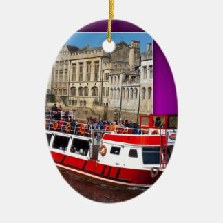 York Boat out of Bounds Ceramic Ornament