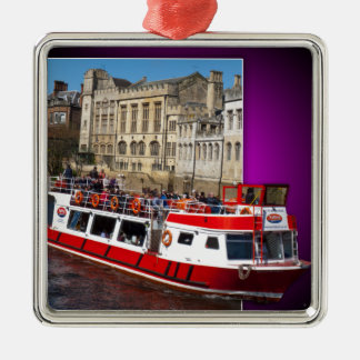 York Boat out of Bounds Metal Ornament