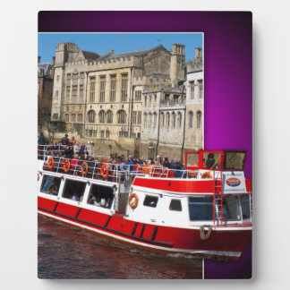 York Boat out of Bounds Photo Plaque