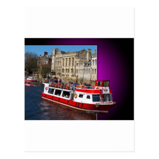 York Boat out of Bounds Postcard