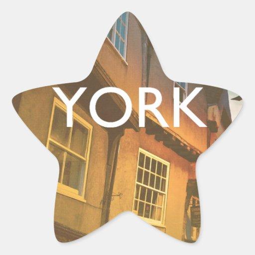 York Calcomania Forma De Estrella Personalizada